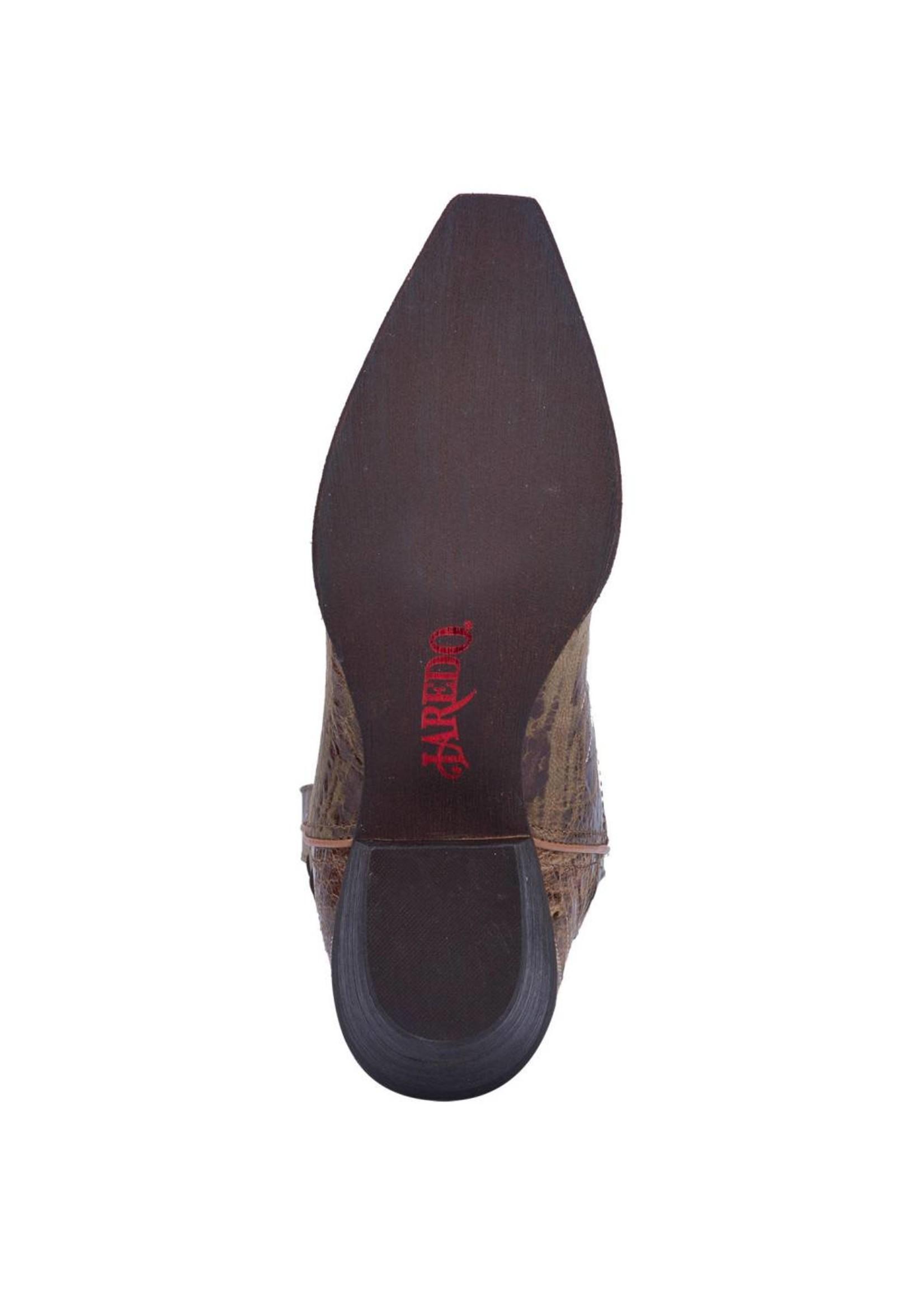 Laredo Women's Crosswing 12 Inch Snip Toe Embroidered Cowboy Boot 52157