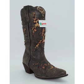 Laredo Women's Aphfricka Leopard Inlay Boots Brown 52130