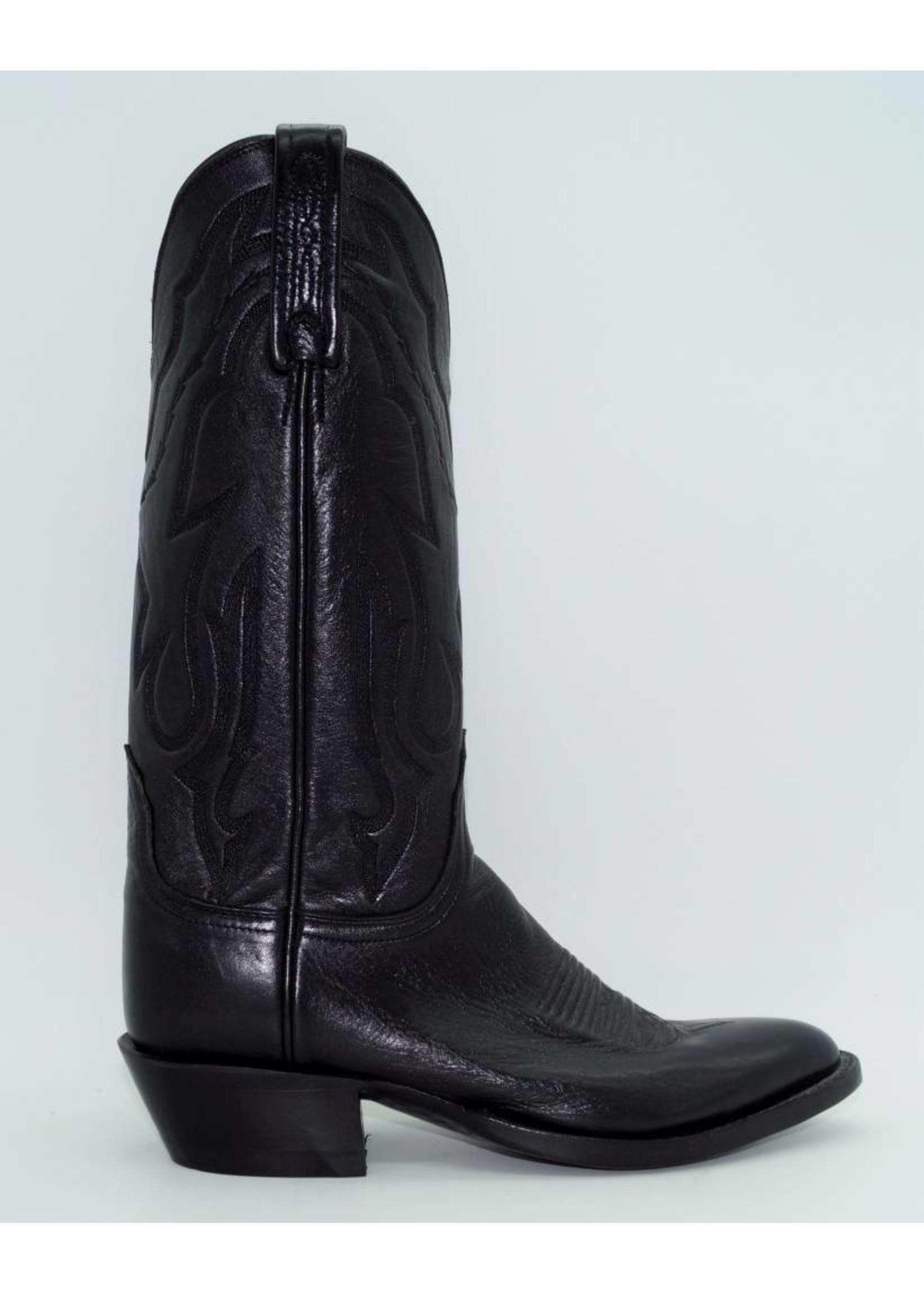 Lucchese Jeremy Black Long Star Calf Leather Cowboy Boots T3094-J4