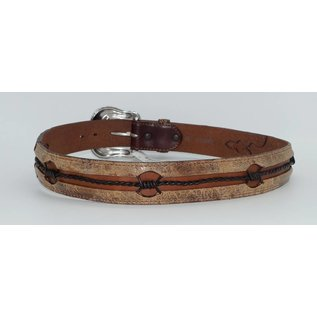 Justin Men's Vintage Barbed Wire Leather Belt C13665
