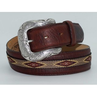 Justin Men's Brown Native Diamond Back Woven Belt C13655