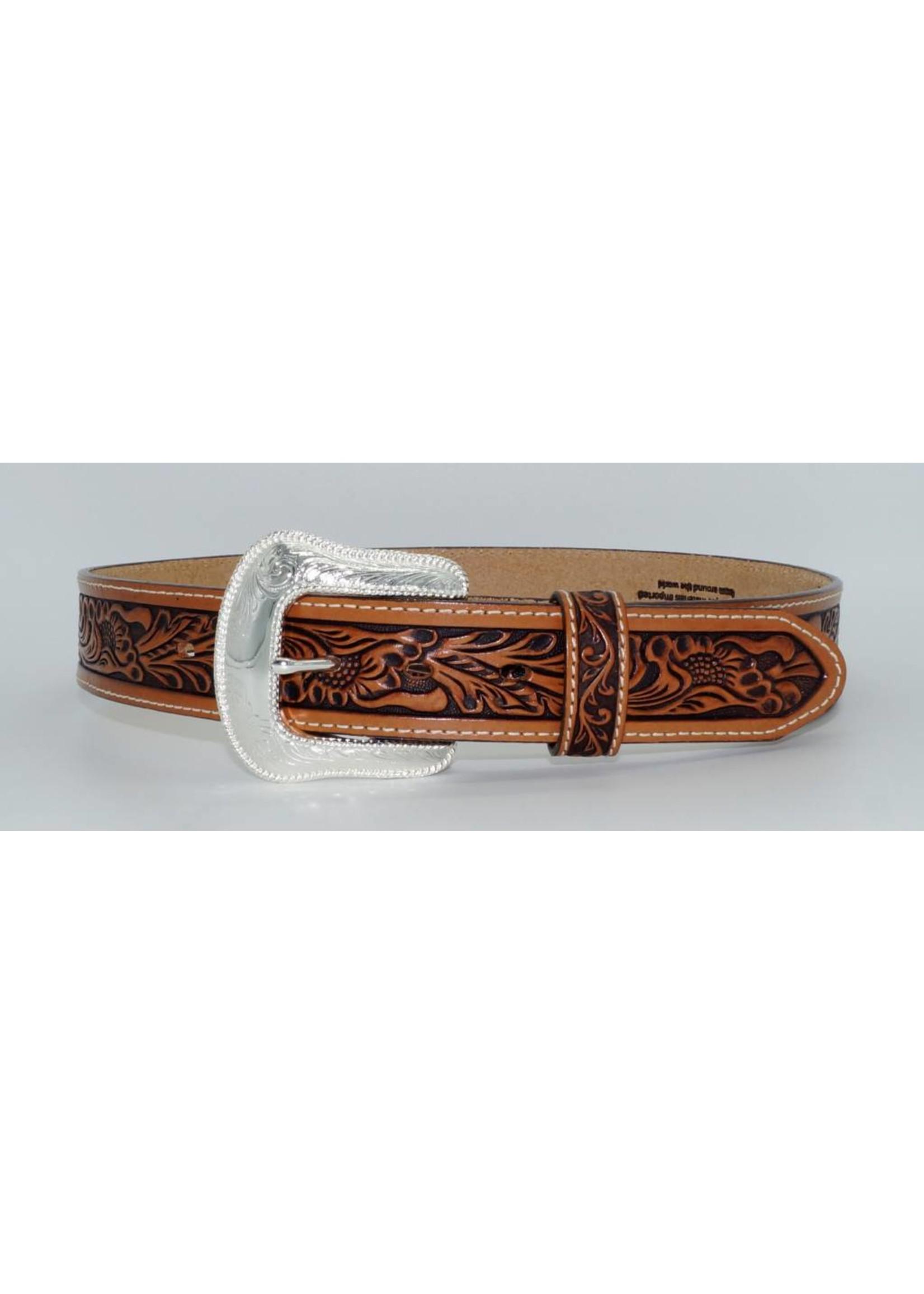 Tony Lama Men's USA Made Patriot Top Grain Leather Belt C13734