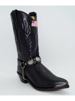 Abilene Black Cowhide with Concho Bracelet 3033