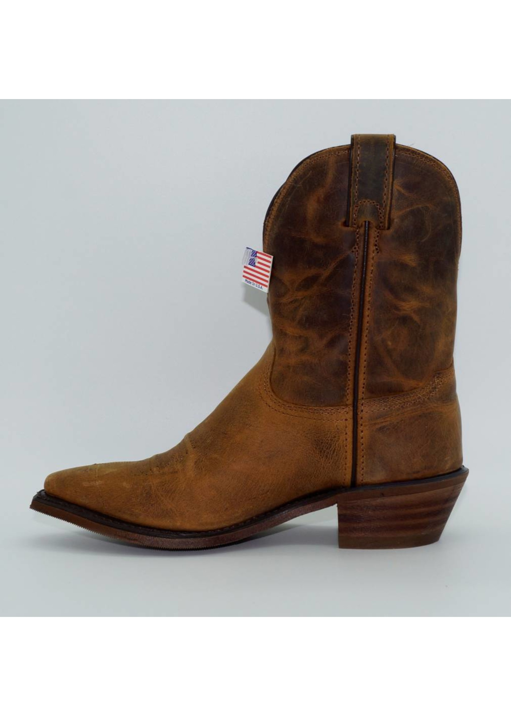 """Abilene Distressed Brown 7"""" Cowgirl Boots 9091"""