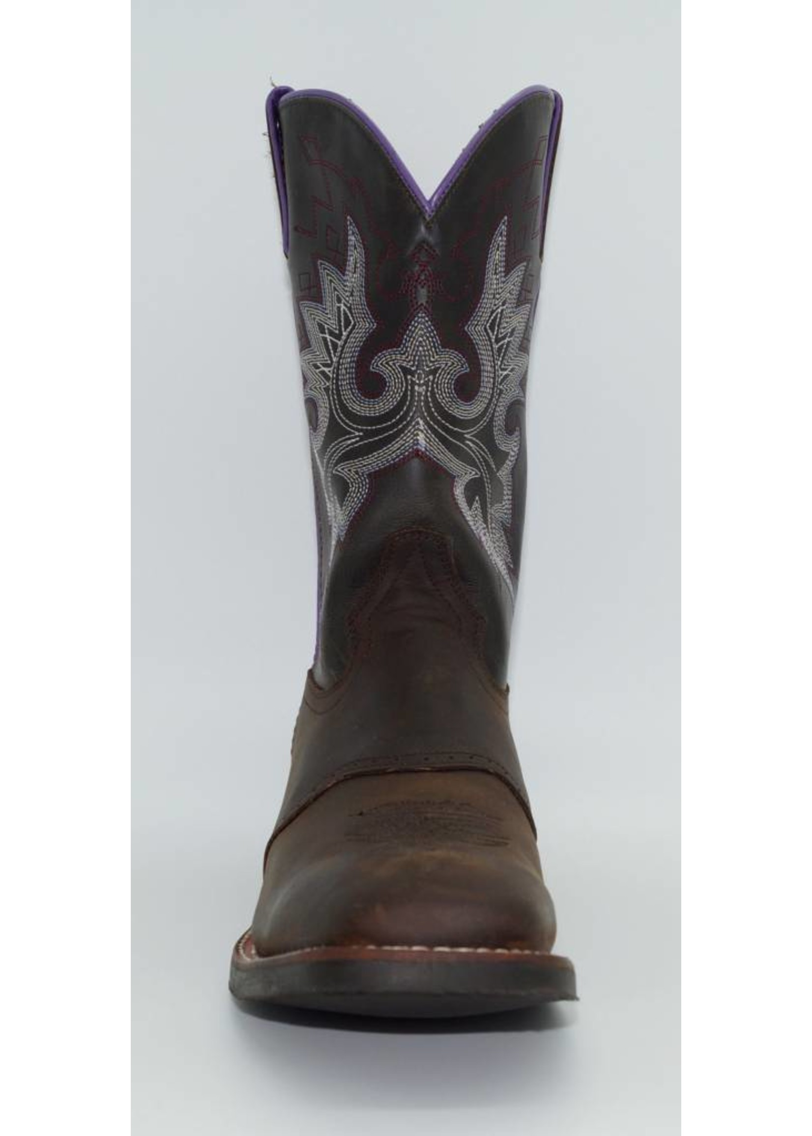 Double H Ladies 11″ Chocolate Square Toe Western Boot DH5272