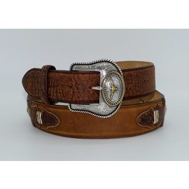 Tony Lama Men's Western Pride Leather Belt Brown C41129