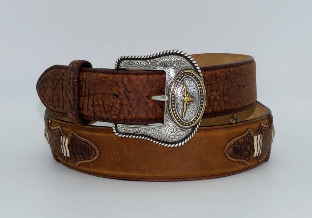 Men's Western Pride Leather Belt Brown