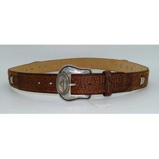 Tony Lama Men's Western Pride Leather Belt Brown C41129