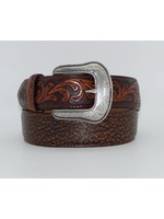 Tony Lama Men's Tooled Brown Leather Belt C42095