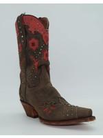 "Dan Post Women's 11"" Wild Bird Leather Boots Chocolate/Red DP3514"