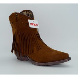 Dingo Women's Brown Tassel Western Boot DI7448