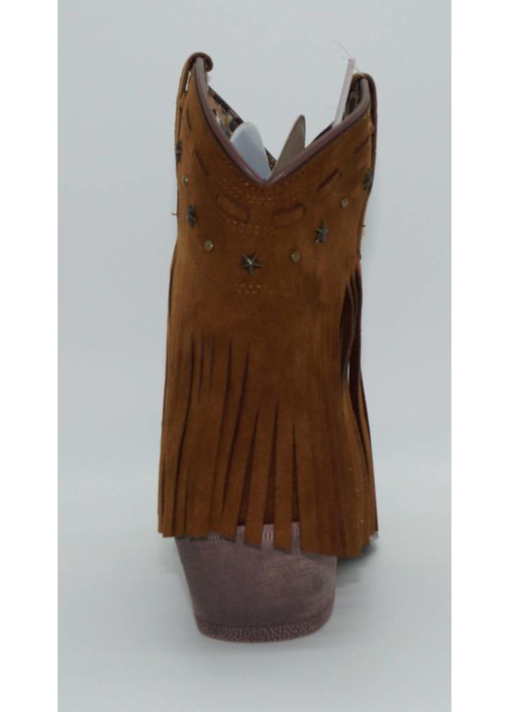 Dingo Women's Brown Tassel Western Boot DI7448
