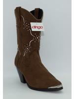 Dingo Women's Studded Brown Western Boot DI563