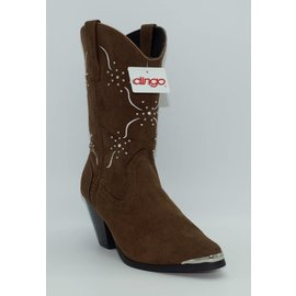 Dingo Women's Studded Brown Western Boot DI563