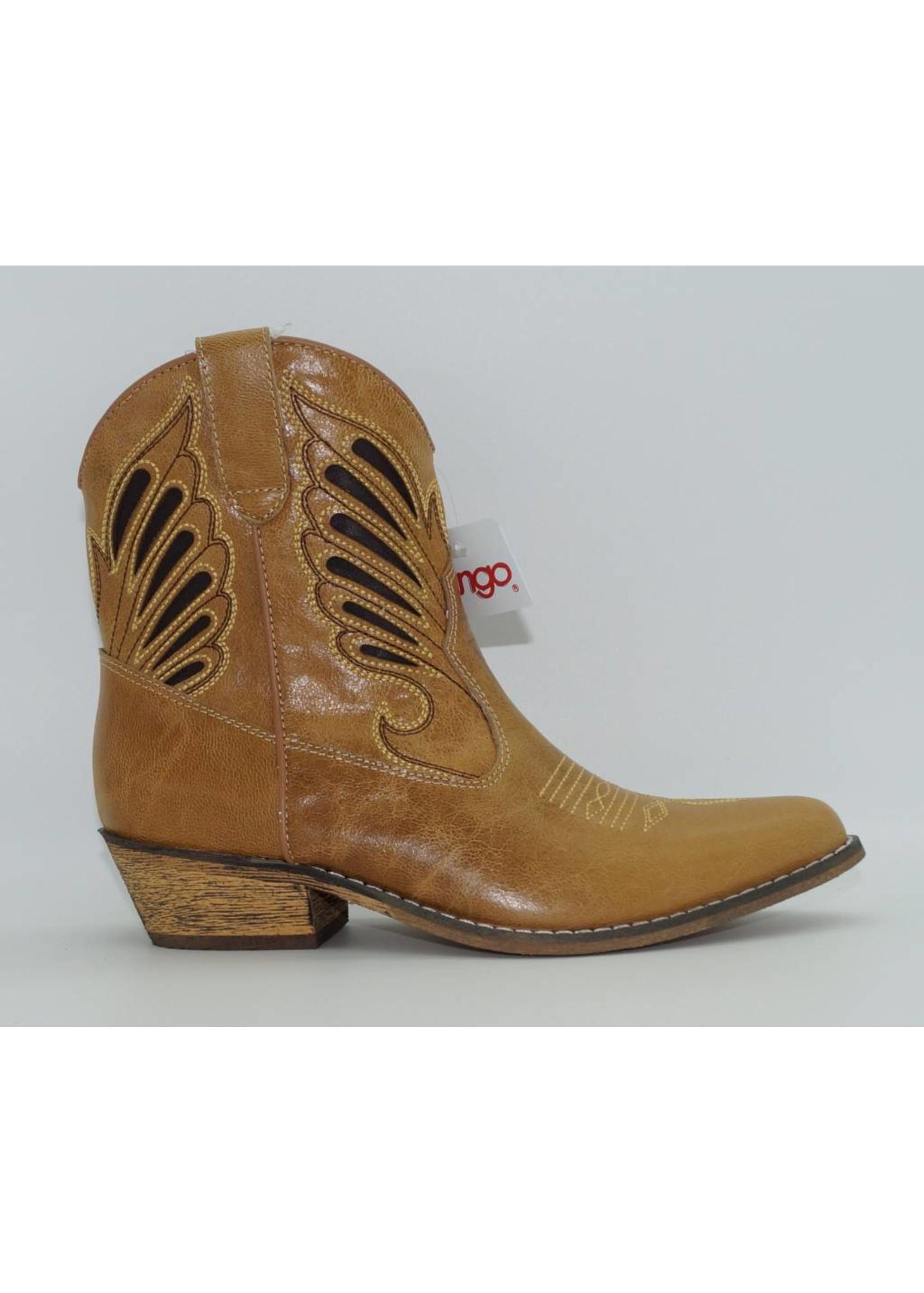 Dingo Women's Short Tan Western Boot DI727