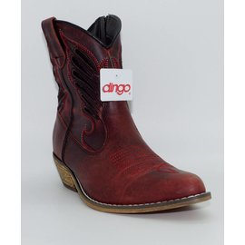 Dingo Women's Red Short Western Boot DI726