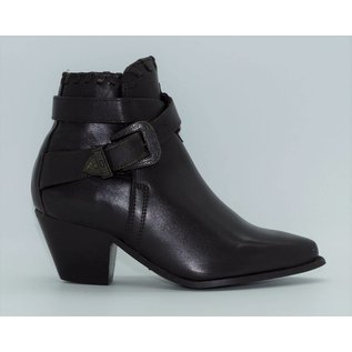 Dingo Women's Black Strap Ankle Western Boot 2252