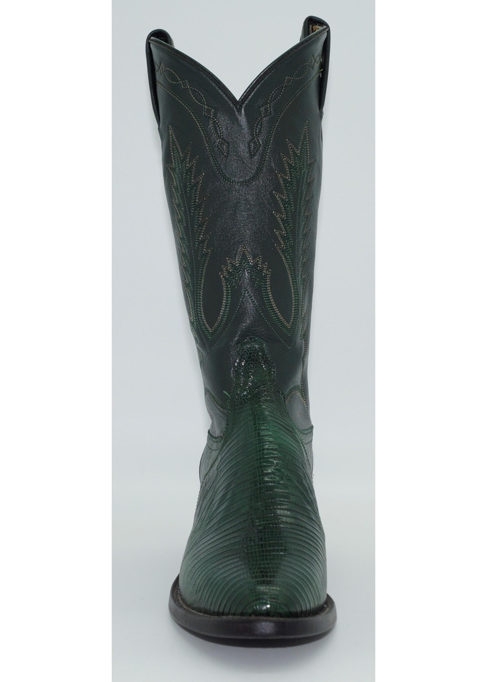 Tony Lama Women's Green Lizard Y1073L