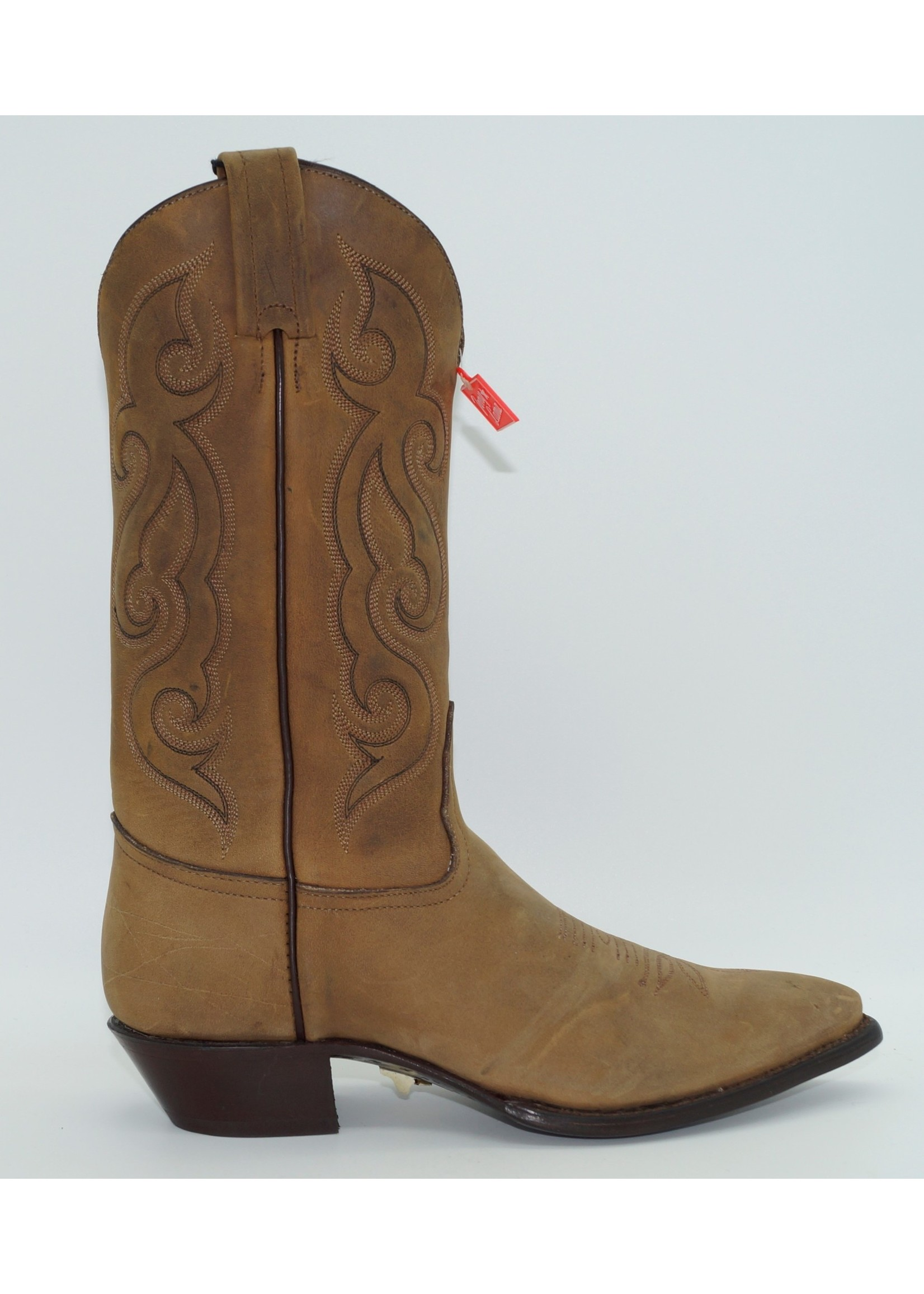 Tony Lama Women's Flat Brown Western Boot 1153L