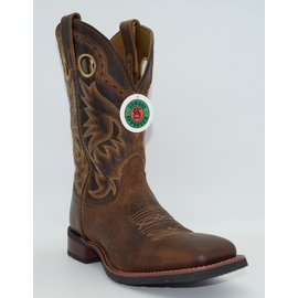 Cowboy Approved Tan Kane Broad Square Toe Mens Western Boots 7812