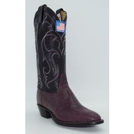 Tony Lama Women's Purple Lizard Belly Boots Y1307L