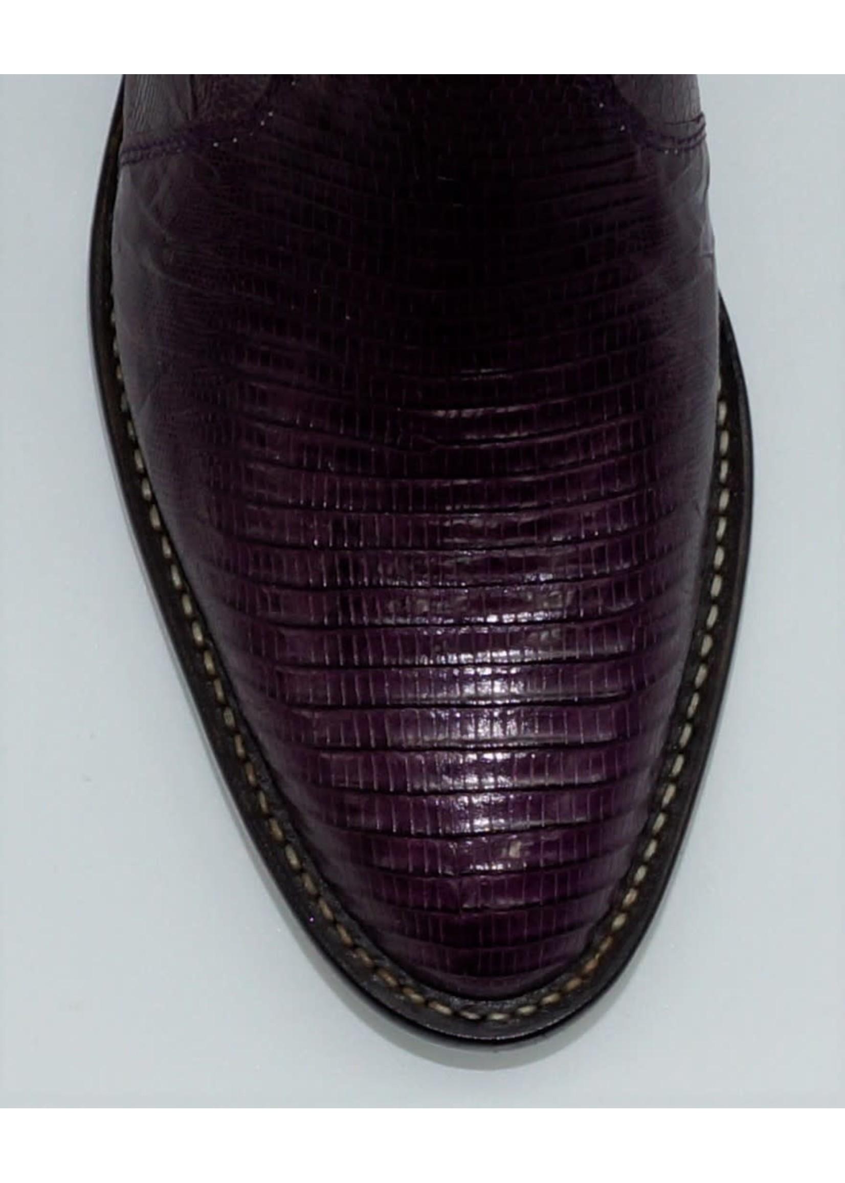 Tony Lama Women's Purple Lizard Belly Boots Y1307L