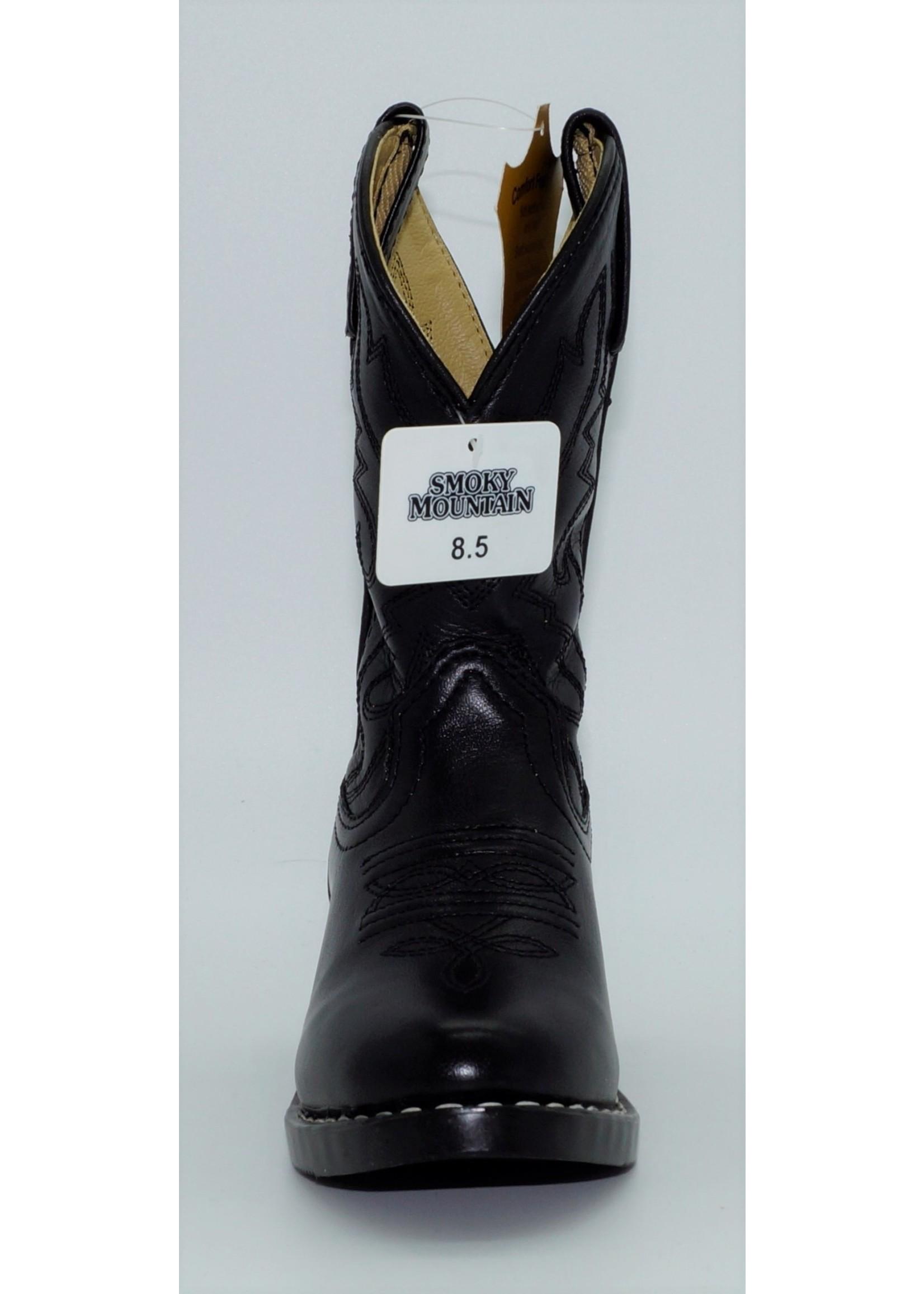 Smokey Mountain Children's Black Western Boots 3032C-Denver