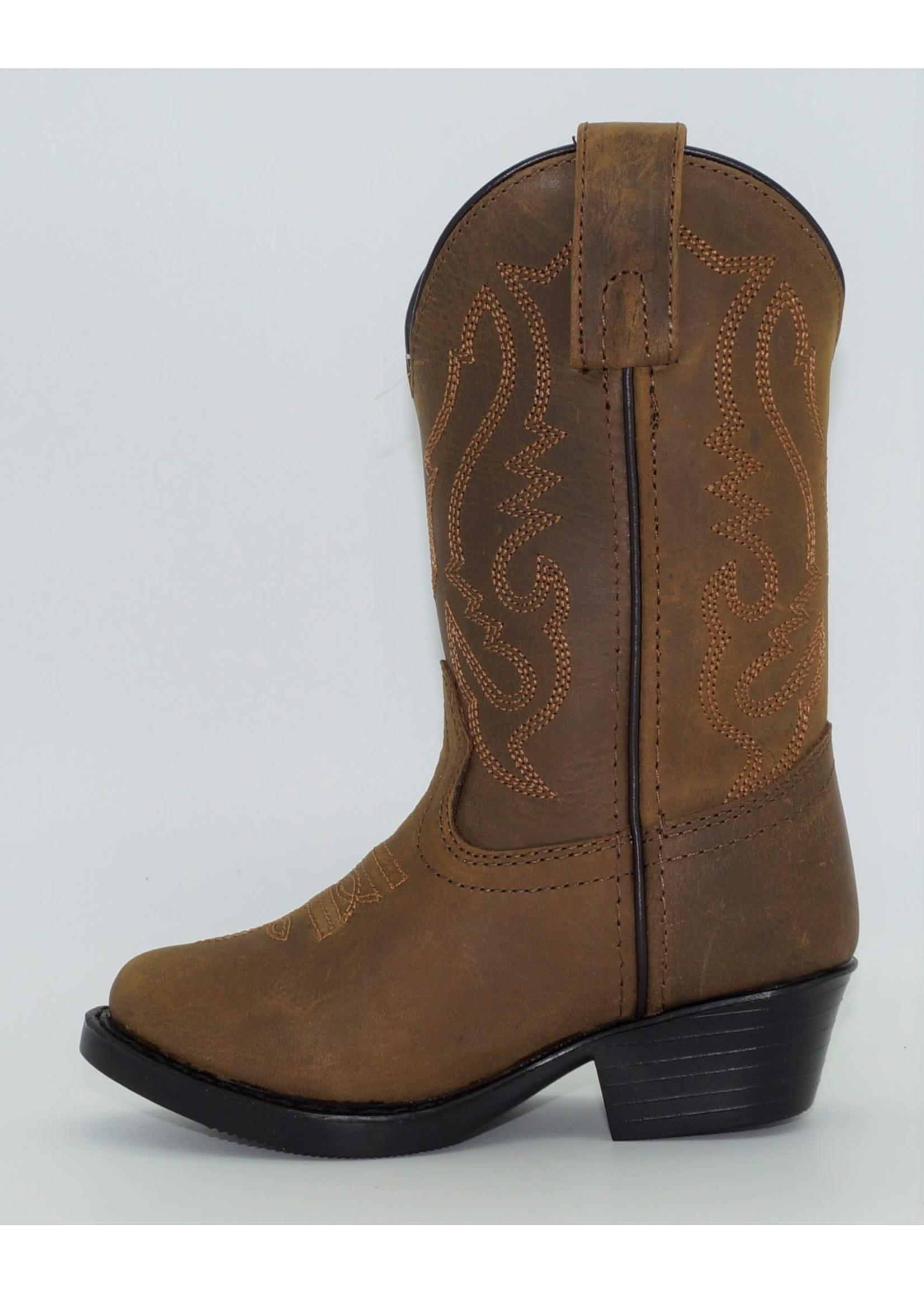 Smokey Mountain Children's Brown Western Boots 3034C-Denver