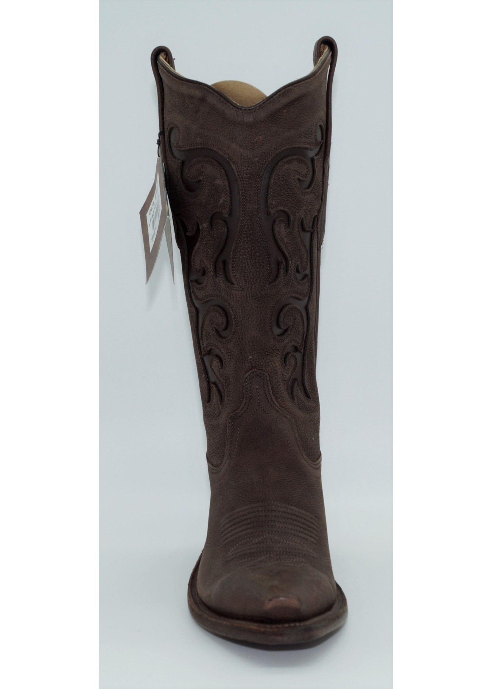 Old West Women's Brown Fancy Stitch LF1578