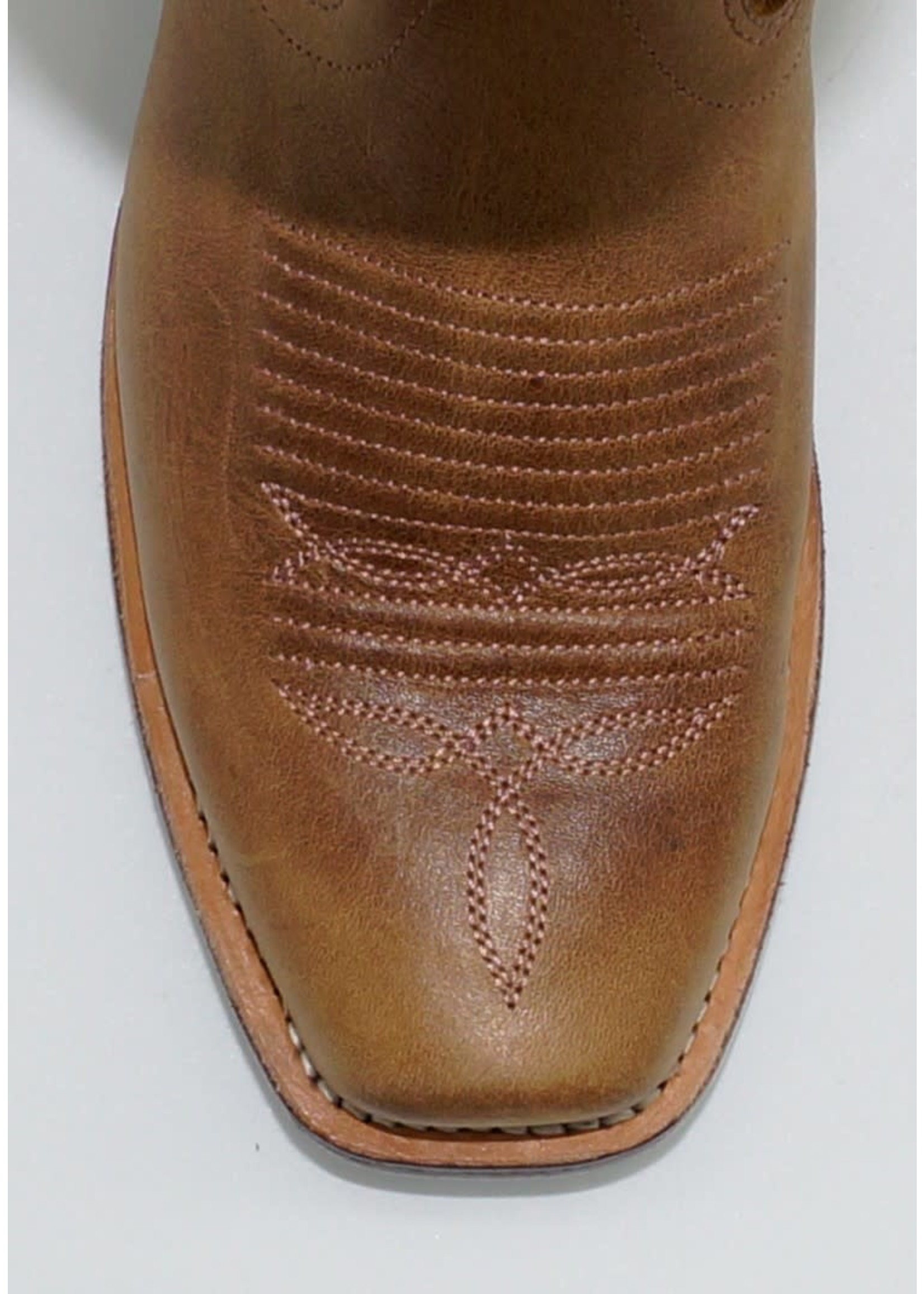Old West Ladies Tan Embroidered Boot 18006