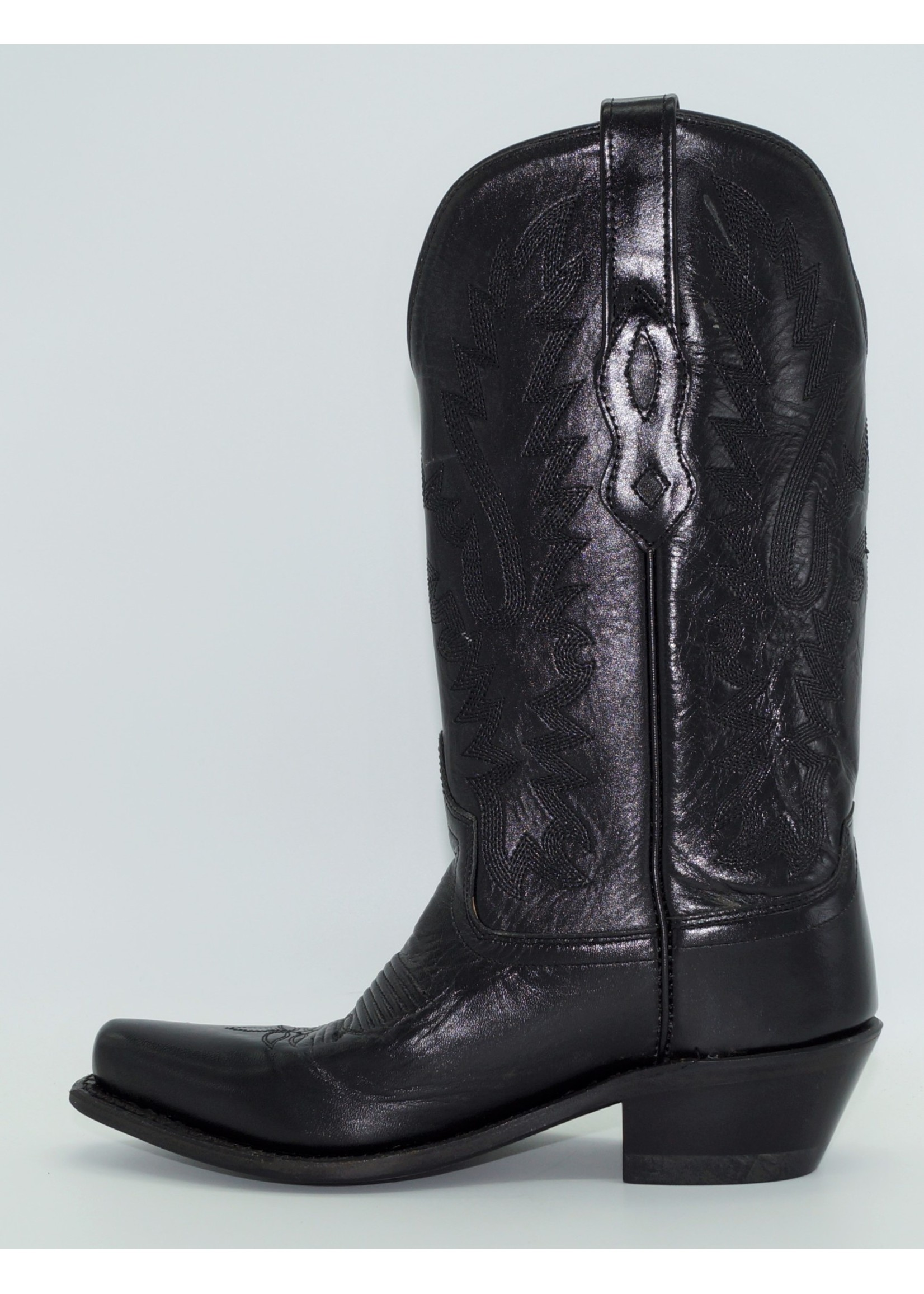 Old West Ladies Black Leather Snip Toe Boots LF1510