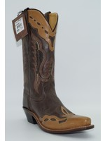Old West Women's Brown Overlay Western Boot LF1538