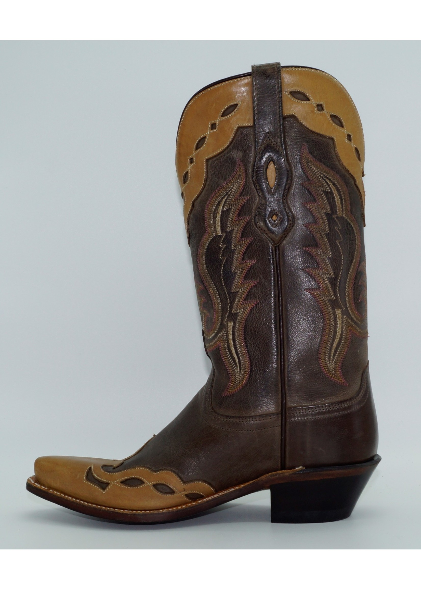Old West Women's Brown Overlay Western Boot