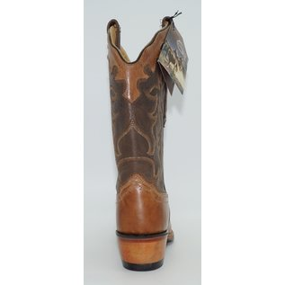 Old West Womens Tan Brown Square Toe Western Boots 18004