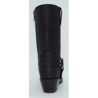 Old West Womens EZ-On Zipper Black Harness Boot MB2058L