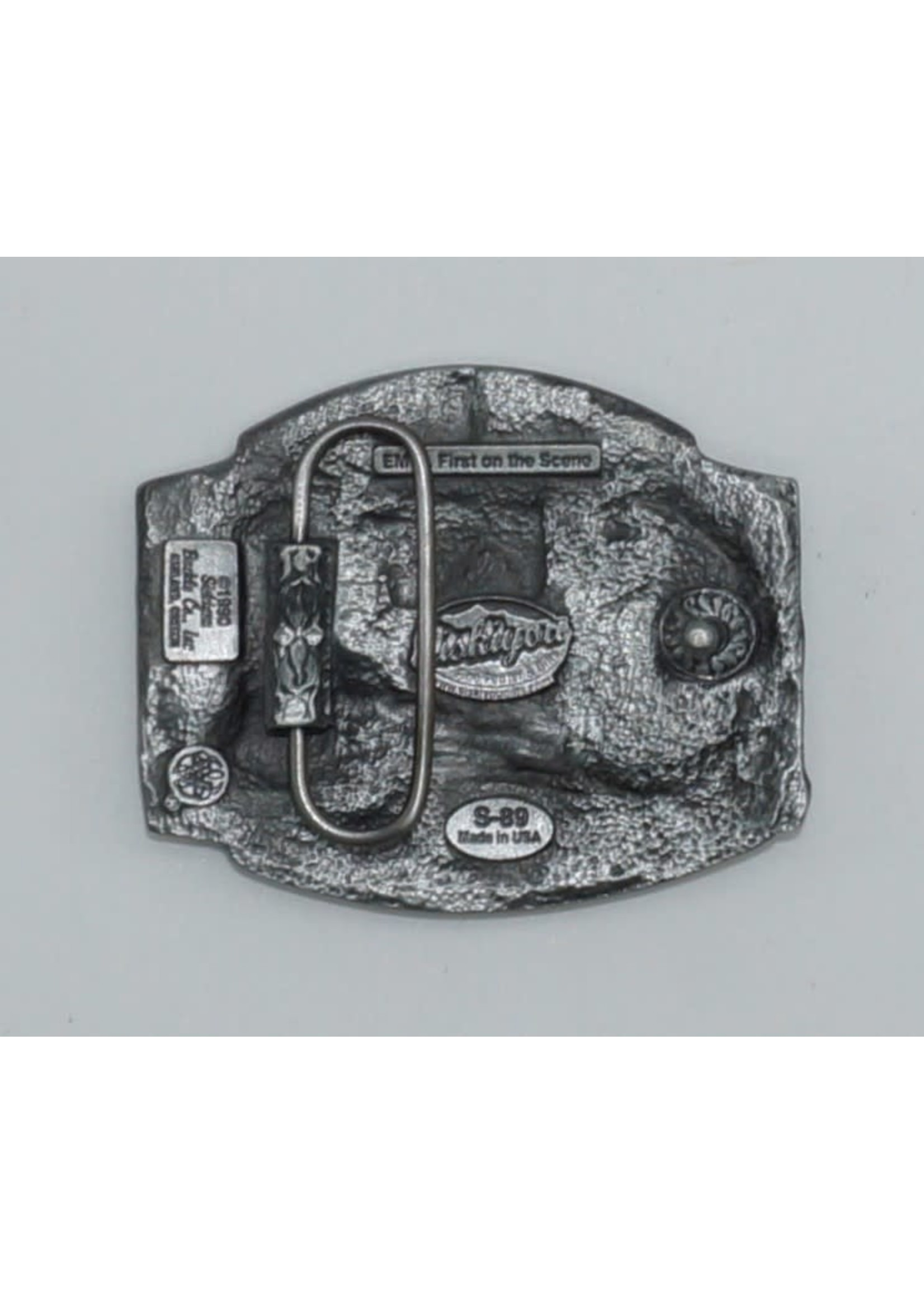 Siskiyou Gifts EMT Antiqued Belt Buckle S89-BKL-EMT