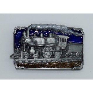 Siskiyou Gifts Steam Engine Enameled Belt Buckle H40E-M