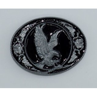 Siskiyou Gifts Eagle with Western Scroll Enameled Belt Buckle G5D