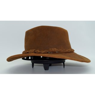 Minnetonka Outback Hat  Brown Rough Leather 9503