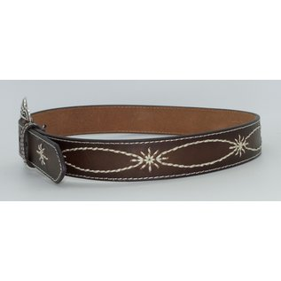 Nocona Womens Tan Starburst Stitched Leather Belt N3410908