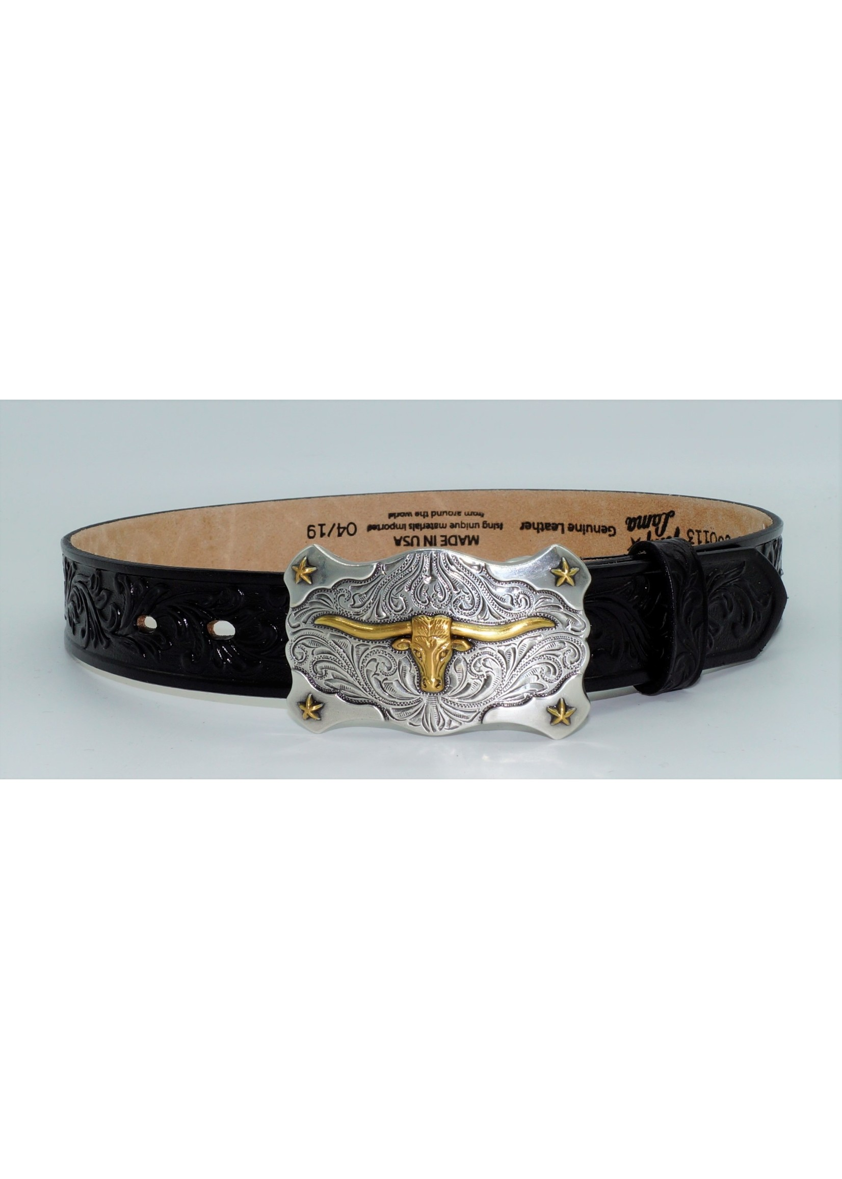 Tony Lama Kid's Black Little Texas Western Belt C60113