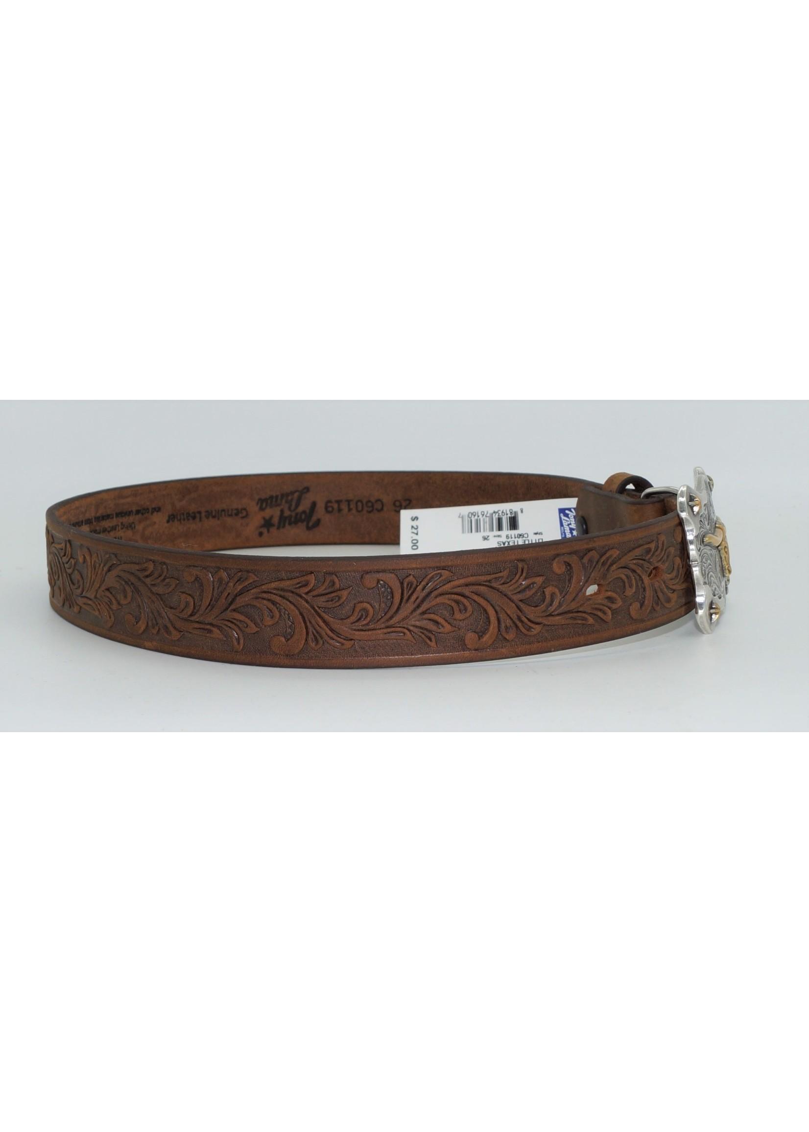 Tony Lama Kid's Aged Bark Little Texas Western Belt C60119
