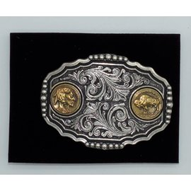 Attiude Buckles Two Buffalo Nickel