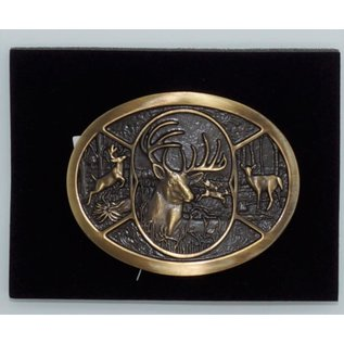 Attiude Buckles Deer Heritage Attitude Belt Buckle 60796C