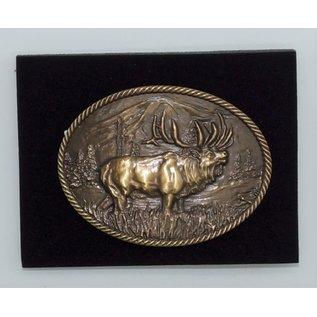 Attiude Buckles Sculpted Wild Elk Heritage Attitude Buckle A506C