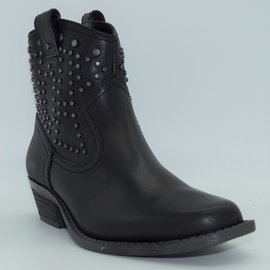 "Dingo Women's Dusty 6"" Black Leather Ankle Boot DI150"