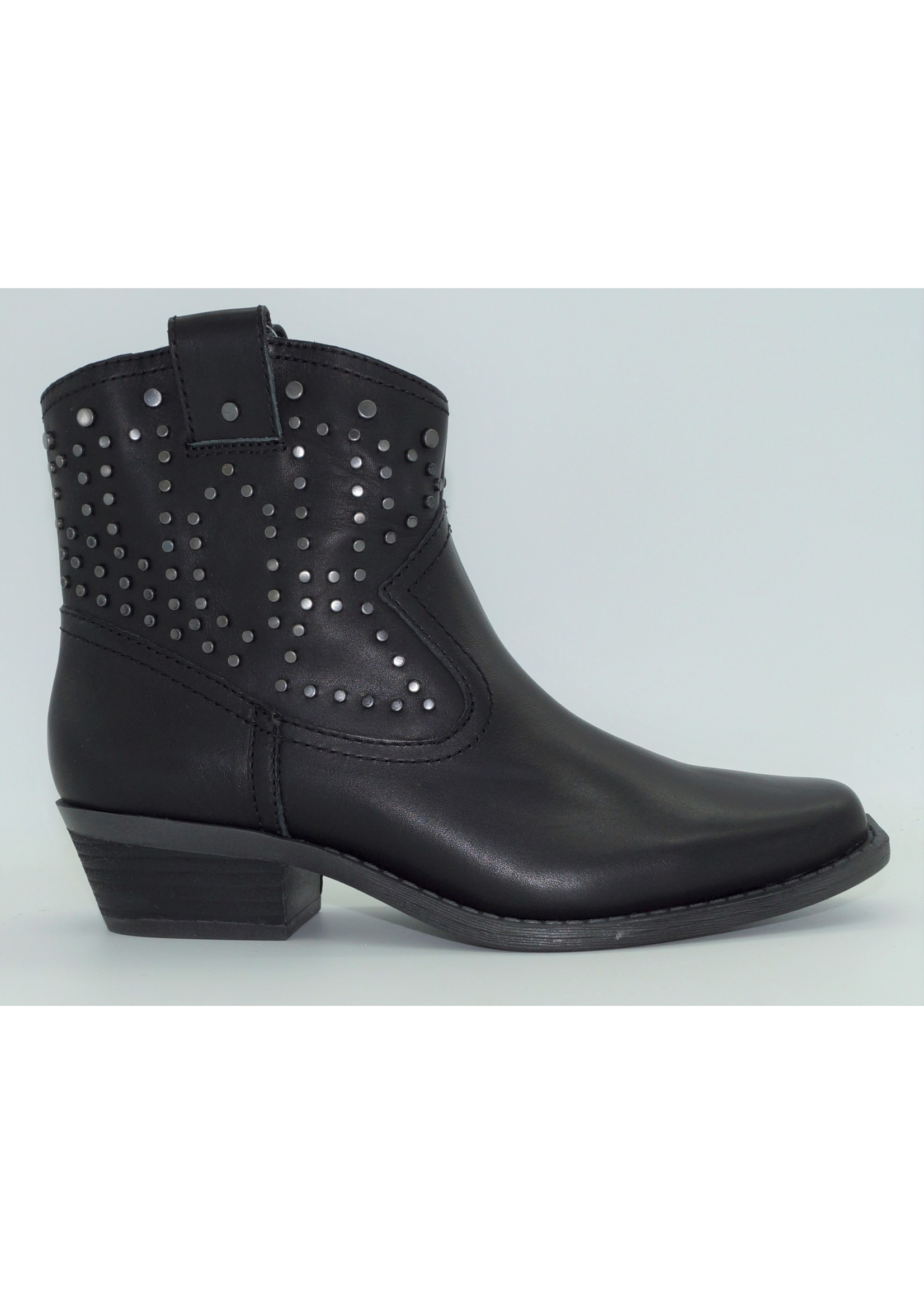 """Dingo Women's Dusty 6"""" Black Leather Ankle Boot DI150"""
