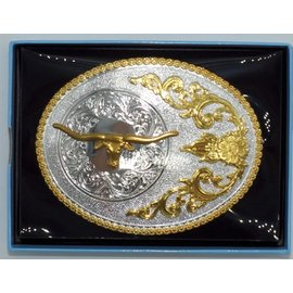 Nocona Silver&gold Long Horn Steer