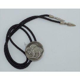 M&F 22146- Buffalo Coin Bolo Tie