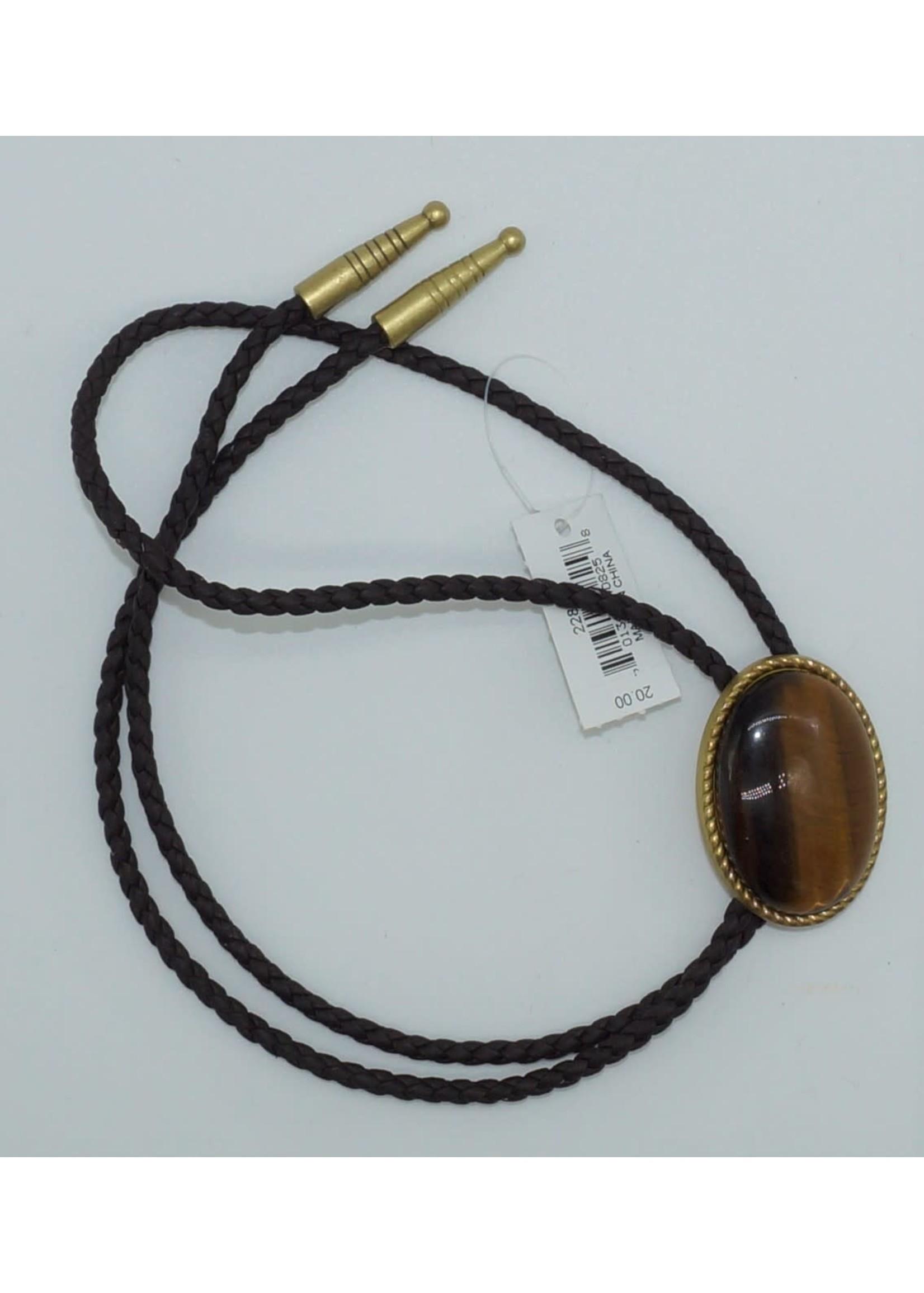 M&F 22840 - Bolo-Ties/Rope Edge Tiger Eye
